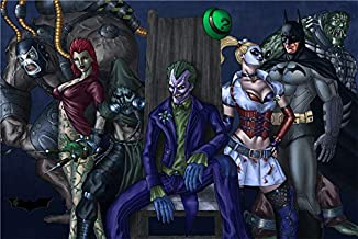 Zzjart HD Printed Oil Paintings Home Wall Decor Art on Canvas,Batman Arkham Asylum 4size#340 (Framed,20x30inch)