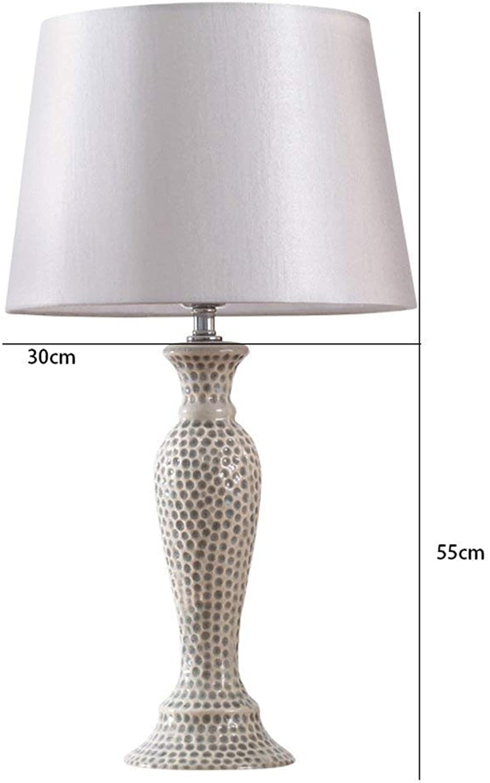 AOLI Tischlampe American American American Ceramic Tischlampe Schlafzimmer Bedside Moderne minimalistische kreative warme Persönlichkeit, grau, H55Cm  W24Cm B07J4GY6QY     | Hohe Qualität und günstig  f32991