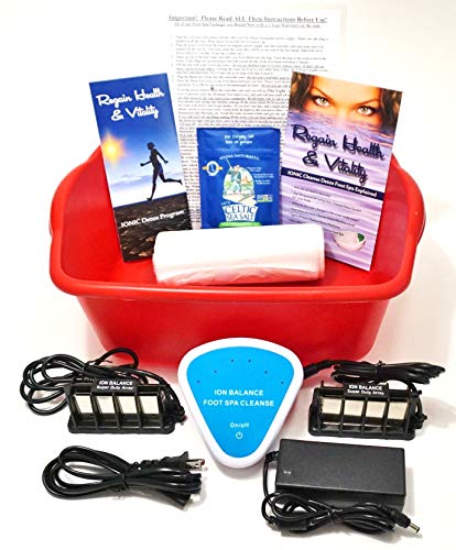 Ion Balance Ionic Detox Foot spa Bath Machine for Home Use. Comes with 10X Stronger Super Duty Ionizer Arrays