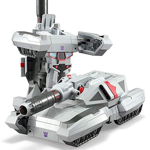 YUIOP Trànsfōrmérs Coche Juguete Robot Car, Coche de Control Remoto Que Transforma el Sensor de Control de Voz Mega∮trōn con Transformación de un Botón