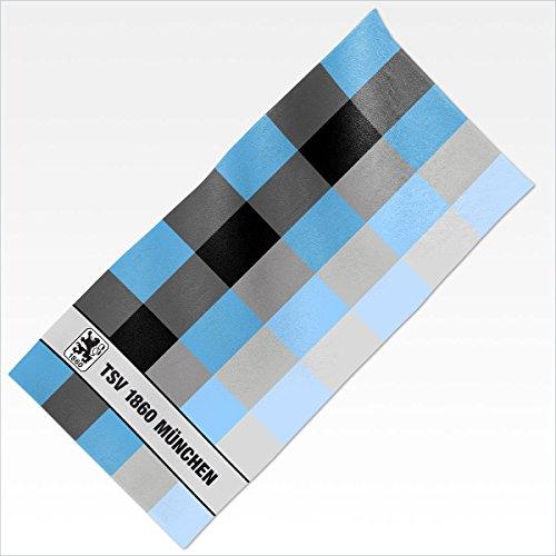 TSV 1860 München Handtuch 1860 blau 50x100 100 % Baumwolle Lizenzartikel