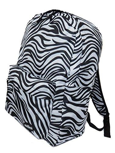 Ladies Womens Ragazze e ragazzi zaino per laptop ipad College Scuola Borsa Da Viaggio, Bambino donna, 5055 Zebra, Taglia unica