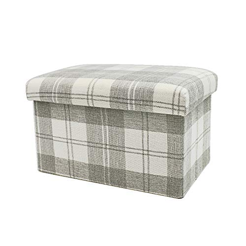 Cesun Tartan Plaid Folding Storage Small Footstool for sale  Delivered anywhere in UK