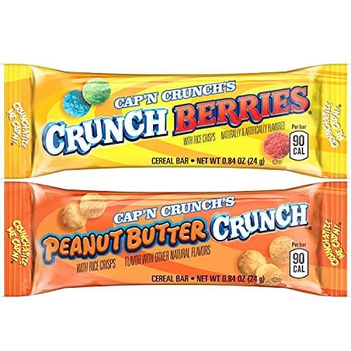 Quaker Cap'n Crunch Treat Bars, 2 Flavor Variety Pack, 0.84 Oz, 32 Count