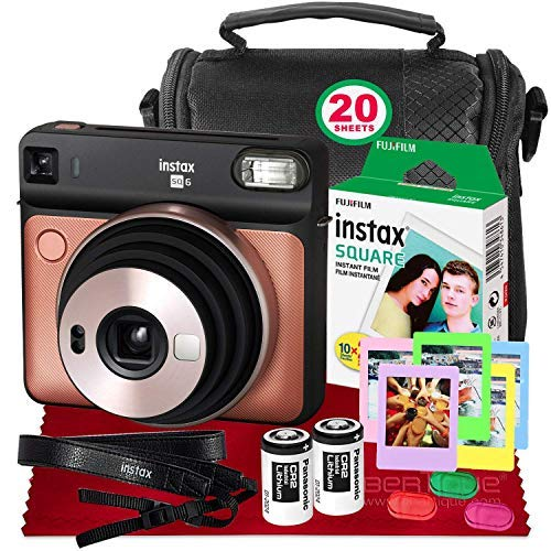 Product Image of the Fujifilm instax Square SQ6 Instant Film Camera (Blush Gold) + 20 Sheets Instant...