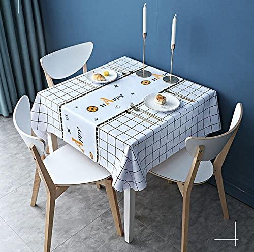 Mantelillas cuadradas, manteles de café y Picnic, manteles Anti-escaldados y a Prueba de Aceite para Cocina y Comedor.-1_130x130cm