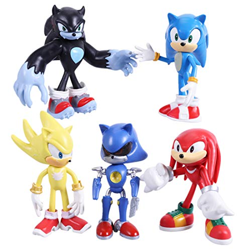 Max Fun Sonic The Hedgehog Action Figures, 12cm Tall Cake Toppers-Collect