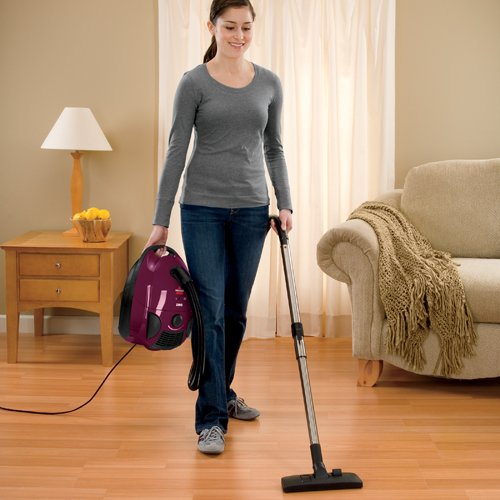 Bissell Zing Bagged Canister Vacuum, Maroon, 4122 - Corded,Maroon...