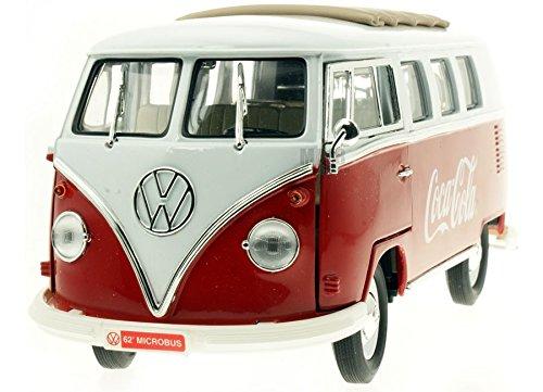 Motor City - 397471 - Véhicule Miniature - Modèle À L'échelle - Volkswagen Combi Vitré - Coca Cola 1962 - Echelle 1/18