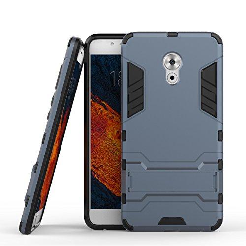 Tasche für Meizu Pro 6 Plus Hülle, Ycloud das stärkste Handy Shock Proof Armor Dual Schutzabdeckung Hochfeste PC Kunststoffoberschale Shockproof mit Halterung Schutzabdeckung Dunkelblau