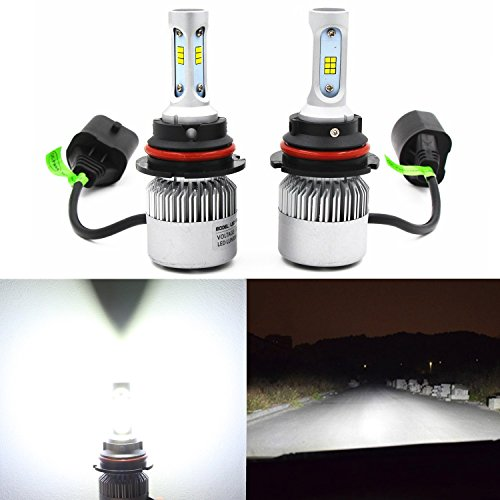 Alla Lighting Extremely Super Bright HB5 9007 LED Bulbs Vision CSP Chipset 9007LL w/ 8000Lm 6500K Xenon White High Dipped Beam Replacement