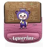 Alfombrilla de ratón con reposamuñecas, espuma viscoelástica para juegos, diseño ergonómico, almohadillas antideslizantes para juegos, PC, trabajo en la oficina, color Acuario