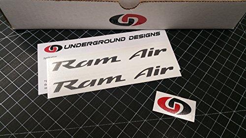 RAM AIR Decals Firebird Trans Am Formula GTO Hood Stickers 1993-2002 Select Color (Charcoal Metallic)