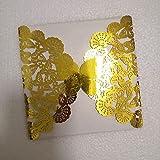 PPuujia Hochzeitseinladungen, durchbrochenes Schmetterling, Lasergravur, Hochzeitseinladungen, Karte...