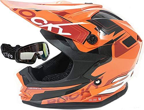3GO XK188 ROCKY CASCO DE MOTO PARA NIÑOS Y NIÑAS MTB ATV...