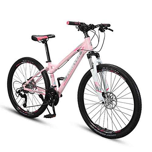 LIUCHUNYANSH Mountain Bike Bicicleta para Joven Bicicleta for Mujer de Bicicletas de montaña del Camino MTB Bicicletas for Adultos de 26 Pulgadas Llantas de 21 Velocidad Doble Freno de Disco