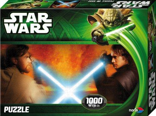 Noris 606031145 - Star Wars Obi Wan vs. Anakin Puzzle Episode 2 & 3, 1000 Teile