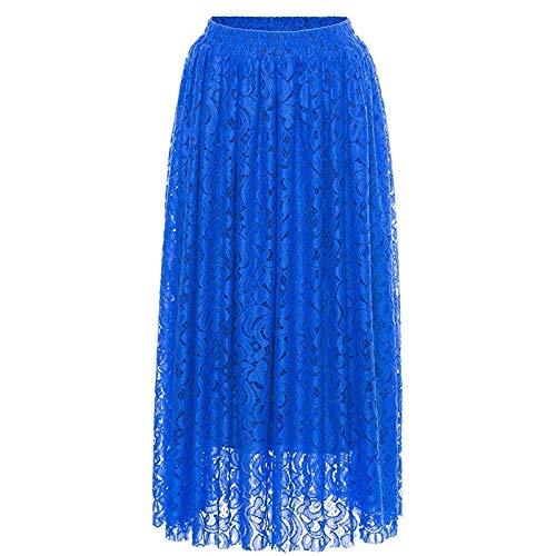 For mujer casual faldas vestido Falda encaje elástico