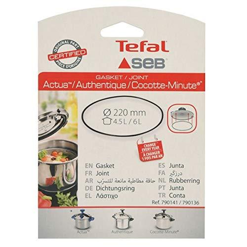 Joint 4,5l/6l inox/alu/couleur pour Autocuiseur Seb, Cocotte Seb