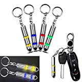 4pcs Anti Static Keychain Secondary Discharger ESD High Voltage Remover Electricity Eliminator Key Chain