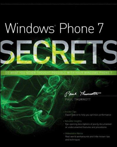 Windows Phone 7 Secrets (... Secrets (IDG))