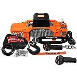 Winchmax 13.500 libras (6.123 kg)'Serie SL' Cabrestante eléctrico original naranja de 12v. Cuerda de Dyneema, control remoto inalámbrico doble.