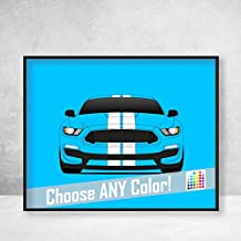 Poster Inspired by Shelby GT350 S550 Ford Mustang (2015-2018) Poster Print Wall Art Decor Handmade Carroll Shelby