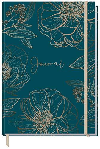 Bullet Journal dotted A5 con banda de goma [flor de oro] 156 páginas, cuaderno de puntos, diario de Trendstuff by Häfft, sostenible y climáticamente neutro