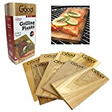 Good Cooking Grilling Planks - Outdoor Barbecue Smoking Grill Planks Variety Pack - Set of 8 (4 Alder, 4 Cedar) - Thicker for Longer Use