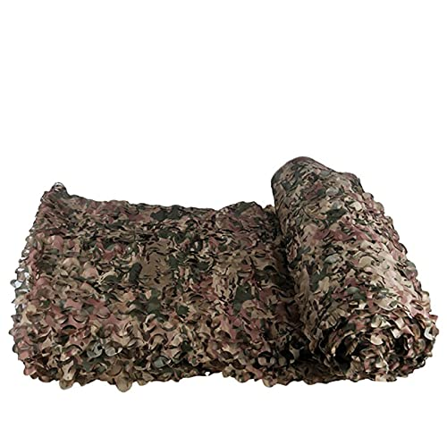 Refugio militar de camuflaje de camuflaje de camuflaje del ejército del ejército de la red, cubre la tienda, el camping de la sombra, la tela de Oxford 210D con la red de malla adjunta,Desert,5x10ft