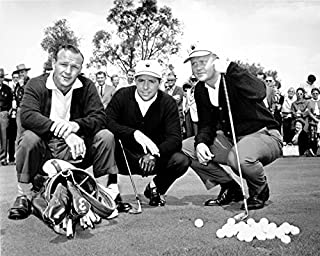 Gary Player, Jack Nicklaus & Arnold Palmer Together At The Masters In 1967. 8x10 Photograph