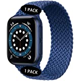 Watchbands Compatible for Apple Watch SE Series 6 Bands 40mm 44mm Woven Solo Loop Braided Strap iwatch Compatible with 5/4/3/2/1 38mm 42mm-(Blue-42mm/44mm:#5)