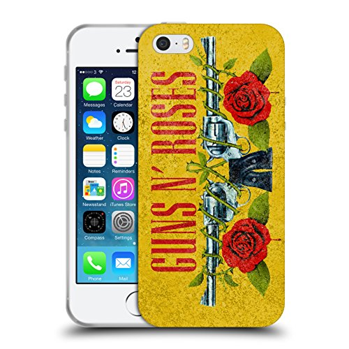Head Case Designs Licenza Ufficiale Guns N' Roses Pistola Vintage Cover in Morbido Gel Compatibile con Apple iPhone 5 / iPhone 5s / iPhone SE 2016