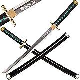 kljhld Épée de samouraï Anime en Bois,Katana Demon Slayer, épée de samouraï de Demon Slayer-épée de samouraï de Katou Muichirou, épée Courte en Bois 73,5 cm/29 Pouces