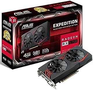 ASUS Radeon RX 570 Expedition - Tarjeta gráfica de 4 GB, Color Negro