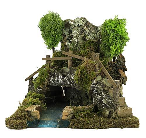 BERTONI Kleiner See in Einer Höhle, Holz, Mehrfarbig, Einheitsgröße