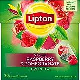 Lipton Grüner Tee Himbeere Granatapfel Pyramidenbeutel 20 Stück