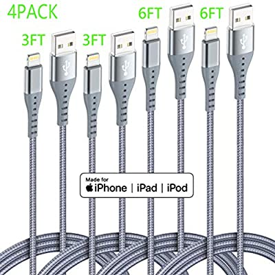 Lightning Cable iPhone Charger XnewCable 4Pack(...