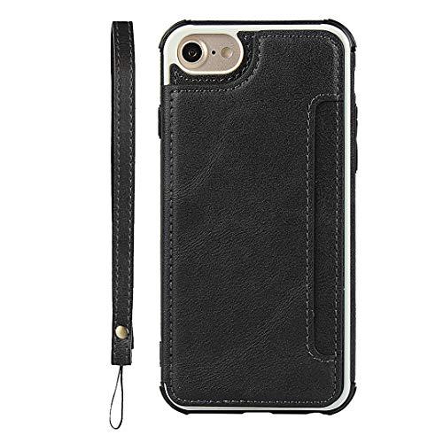 Brieftasche Handyhülle für iPhone 7 / iPhone 8 (Schwarz)