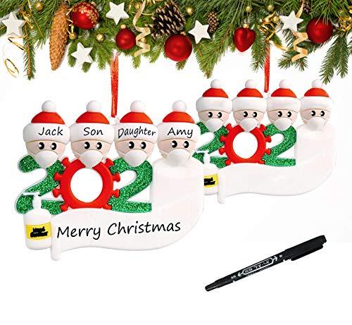 YHmall 2020 Adorno de Navidad Colgantes Navidad Adorno Navideño con Nombre Personalizado, Ornamento de Árbol Navidad Decoración Navideña Adorno de Árbol Navidad Nochebuena Regalo Navidad
