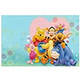 Anti Slip Bath Mat Bathroom Rug (15.7 X 23.6 In) Extra Soft And Absorbent Pvc Rugs, For Shower Room Bedroom And Kitchen Carpet, Disney Winnie Pooh Eeyore Friends
