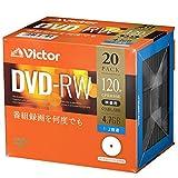 ビクター Victor くり返し録画用 DVD-RW VHW12NP20J1 (片面1層/1-2倍速/20枚)