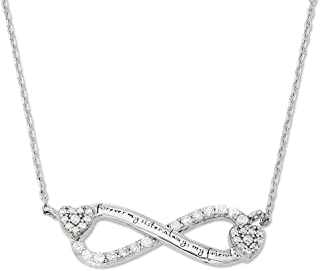 Infinity Zirconia Necklace For Sister - Forever My Sister Always My Friend Love Heart Pendant Necklace Bff Gift for Women Girls