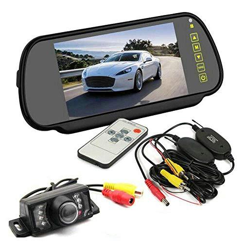 BW Caméra de parking étanche à vision nocturne avec moniteur TFT LCD 7\