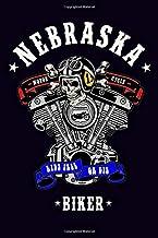 Nebraska Motorcycle Biker Ride Free or Die: Dot Grid Journal, 100 pages