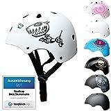 SkullCap® BMX & Casco per Skater Casco - Bicicletta & Monopattino Elettrico, Design: Robodog, Taglia: M (55-58 cm)