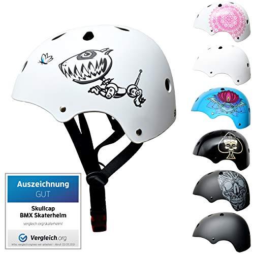 SkullCap BMX & Casco per Skater Casco - Bicicletta & Monopattino Elettrico, Design: Robodog, Taglia: S (53-55 cm)