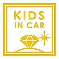 imoninn KIDS in car ステッカー 【シンプル版】 No.26 ダイアモンド (黄色)