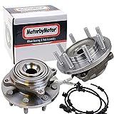 MotorbyMotor 515162 Front Wheel Bearing & Hub Assembly Fits for 2014-2018 Ram 2500, 2013-2018 Ram 3500 Wheel Hub w/8 Lugs, w/ABS (Set of 2)