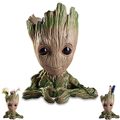 Baby-Groot Blumentopf/ Stifthalter, Held Model Guardians aus Filmklassiker I AM Groot, Baum Mann Blumentopf, für Aquarium Deko/ Wohnkultur/ Kreativer Geschenke für Erwachseneund Kinder(Herz)
